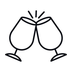 Isolated alcohol cup icon vector design