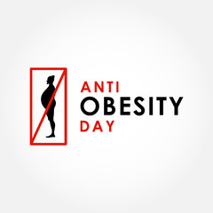 Anti Obesity Day Vector Design Template