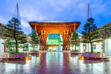 Drum Gate of New Kanazawa Station, Japan