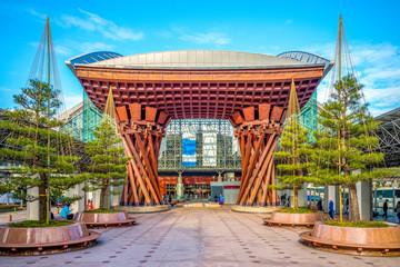 The Tsuzumi drum Gate at JR Kanazawa Station
