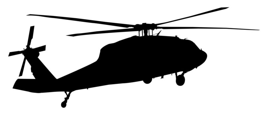helicopter silhouette vector graphic