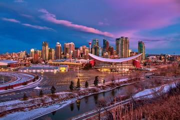 Fotorollo Kastanienbraun Calgary City Views At Dawn