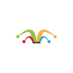 Clown logo template vector design