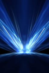 Wall Mural - abstract, backdrop, background, beam, black, blue, blur, bright, concert, concrete, dark, decoration, design, disco, effect, effects, empty, entertainment, event, floor, glow, gradient, grunge, illumi