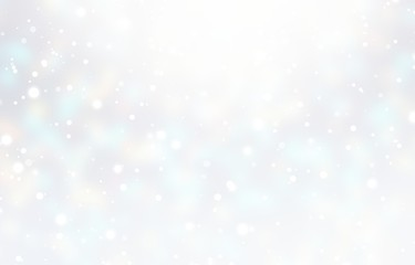 Winter white blurred texture. Snow glow subtle empty background. Xmas decoration. New Year plain pastel illustration. Wall mural