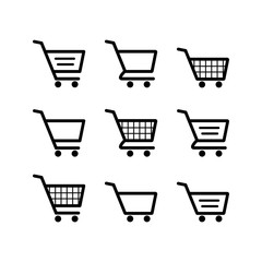 Shopping Cart Icon. Shopping cart illustration for web, mobile apps. Shopping cart trolley icon vector. Trolley icon