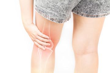 leg bones pain white background leg injury