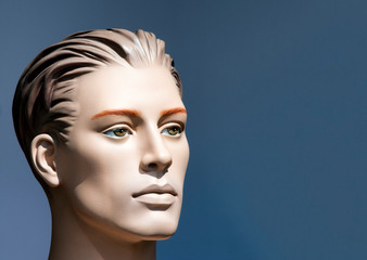 face of a male mannequin