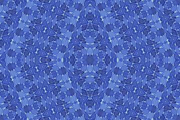 Colored ethnic fabric, geometric shapes