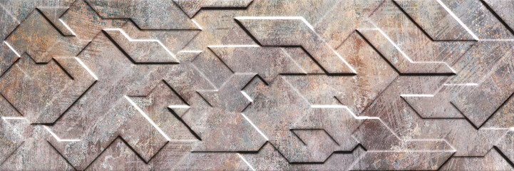 Wall Mural - abstract geometric white background, cement and granite stone background