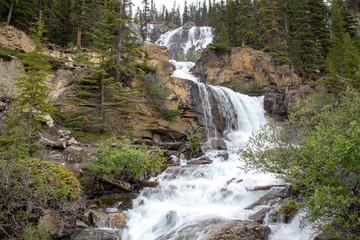Kanada, Tangle Falls am Icefields Parkway, Jasper Nationalpark