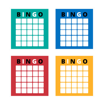 American bingo tickets for party. Brights festive templates with various backgrounds. Vector lottery cards. Ready for print