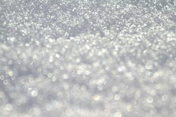 Schnee Schneekristalle Bokeh Spektralfarben