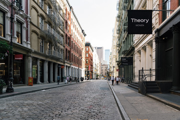 Theory fashion store in Greene Street in Soho, New York CIty