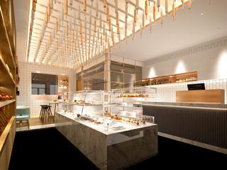 3d render of cafe patisserie interior