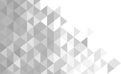 White and gray background. Geometric style. Mesh of triangles. Mosaic template for your design. illustration.  Wall mural