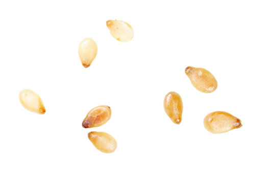 Sesame seeds isolated on a white background
