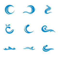 Water Wave logo design vector. Icon Symbol. Template. Illustration