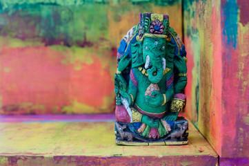 Ganesha Yoga Elephant   Colorful Still Life   Art Photography Background