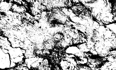 Distressed overlay texture of rough surface, cracked concrete, stone and asphalt. Grunge background. One color graphic resource.