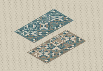 Square Geometric Brochure Flyer Layout