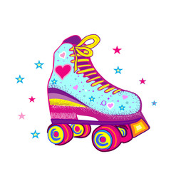 Roller skates on a white background. Wall stickers