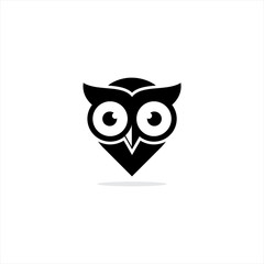owl logo design icon vector