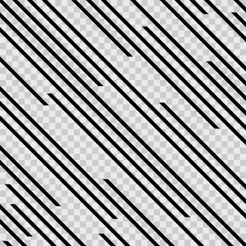 Abstract line pattern on transparent background