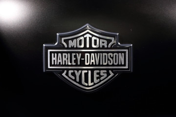 BANGKOK, THAILAND - MARCH 28: A logo of Harley-Davidson on the motorcycle
