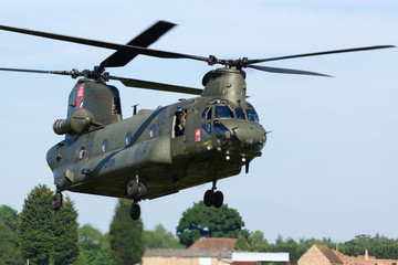 Boeing Chinook military transport helicopter of the Royal Air Force