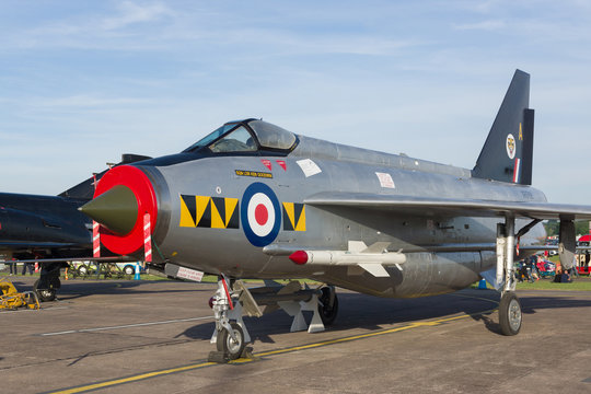 English Electric Lightning of the Royal Air Force an interceptor fighter used during the cold war