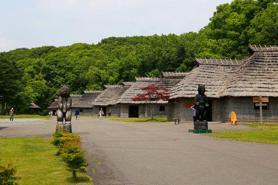 Ainu village, Hokkaido, Japan.