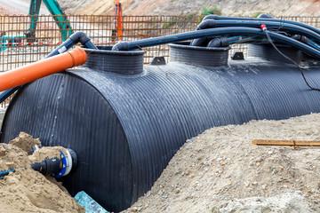 Storage tank for flood water