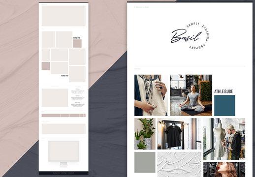 Bold Brand Board Layout