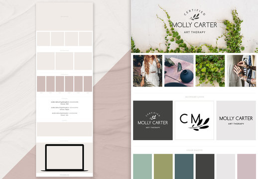 Clean Brand Board Layout