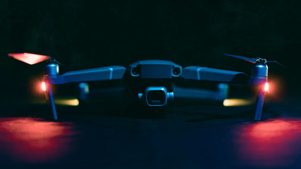 Drone with led lights