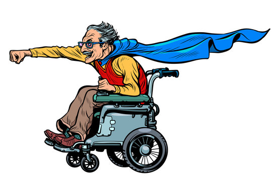 active wheelchair user disabled man
