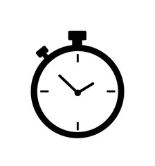 Stopwatch icon timer vector isolated on white