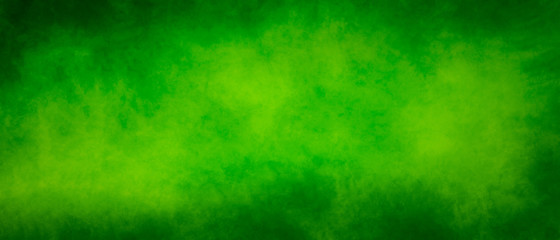 Abstract vintage green splash design background with dark borders