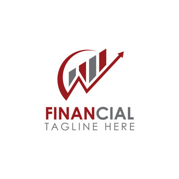 Business Financial and Accounting Logo design Template. Marketing Chart Financial Company Logo. Financial Advisor Logo, Data Statistics Financial Logo design.