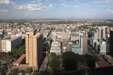 aerial view of nairobi in africa Wall mural