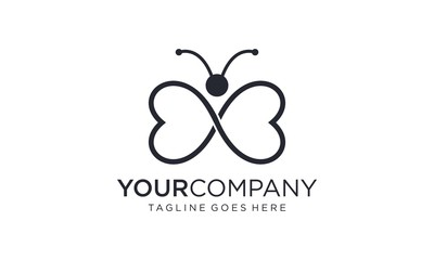 Simple butterfly for logo design concepts