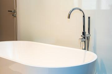 White luxury bathtub decoration interior