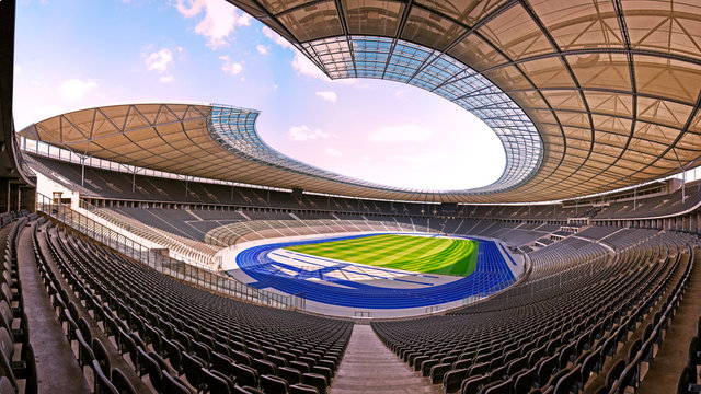 BERLIN, GERMANY - 09 May 2018: Olympic stadium (Olimpiastadion) built in 1936 for Summer Olympic Games