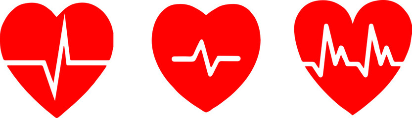 heart beat icon isolated on white background