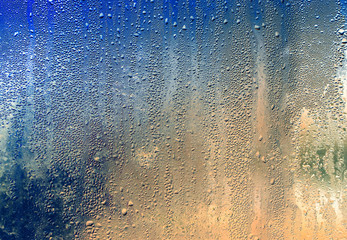 Drops on glass as a background