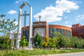 Yoido full gospel church the World's Largest Megachurch on Yeouido island Seoul South Korea