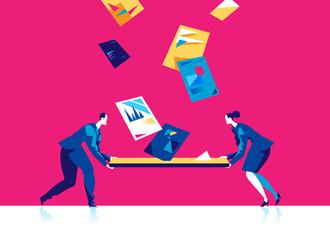 Business asset management. Vector illustration