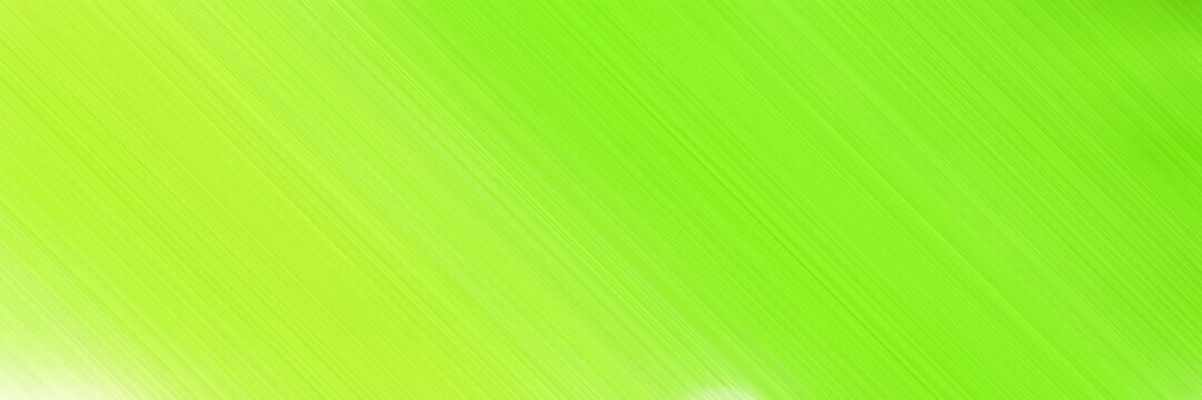 diagonal lines web banner background with green yellow, pale golden rod and lawn green colors and space for text and image