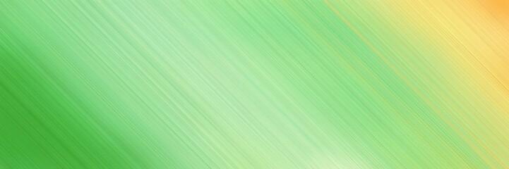 abstract colorful horizontal advertising banner background material with diagonal lines and light green, lime green and khaki colors and space for text and image Wall mural